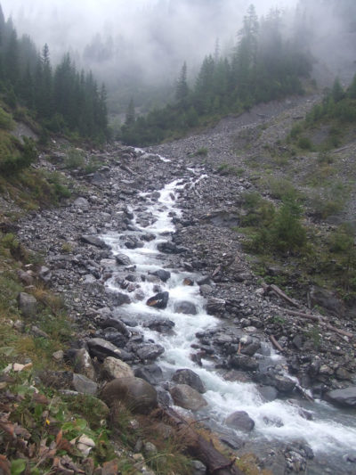 Wandern in der Umgebung von Peist und Arosa - Bergbach